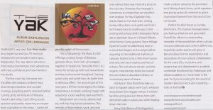 Babylondon The Yak magazine ( Bali ) article
