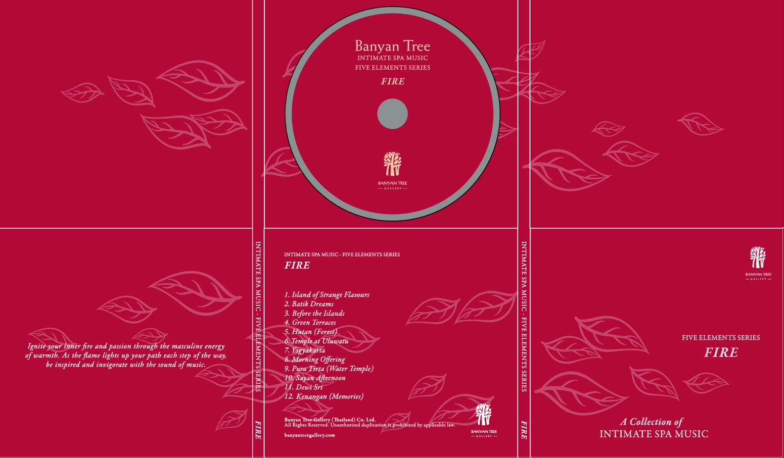 Banyan Tree Resort & Spa / 5 Elements Series CD Vol.4 'FIRE' ( Indonesian ) Themed