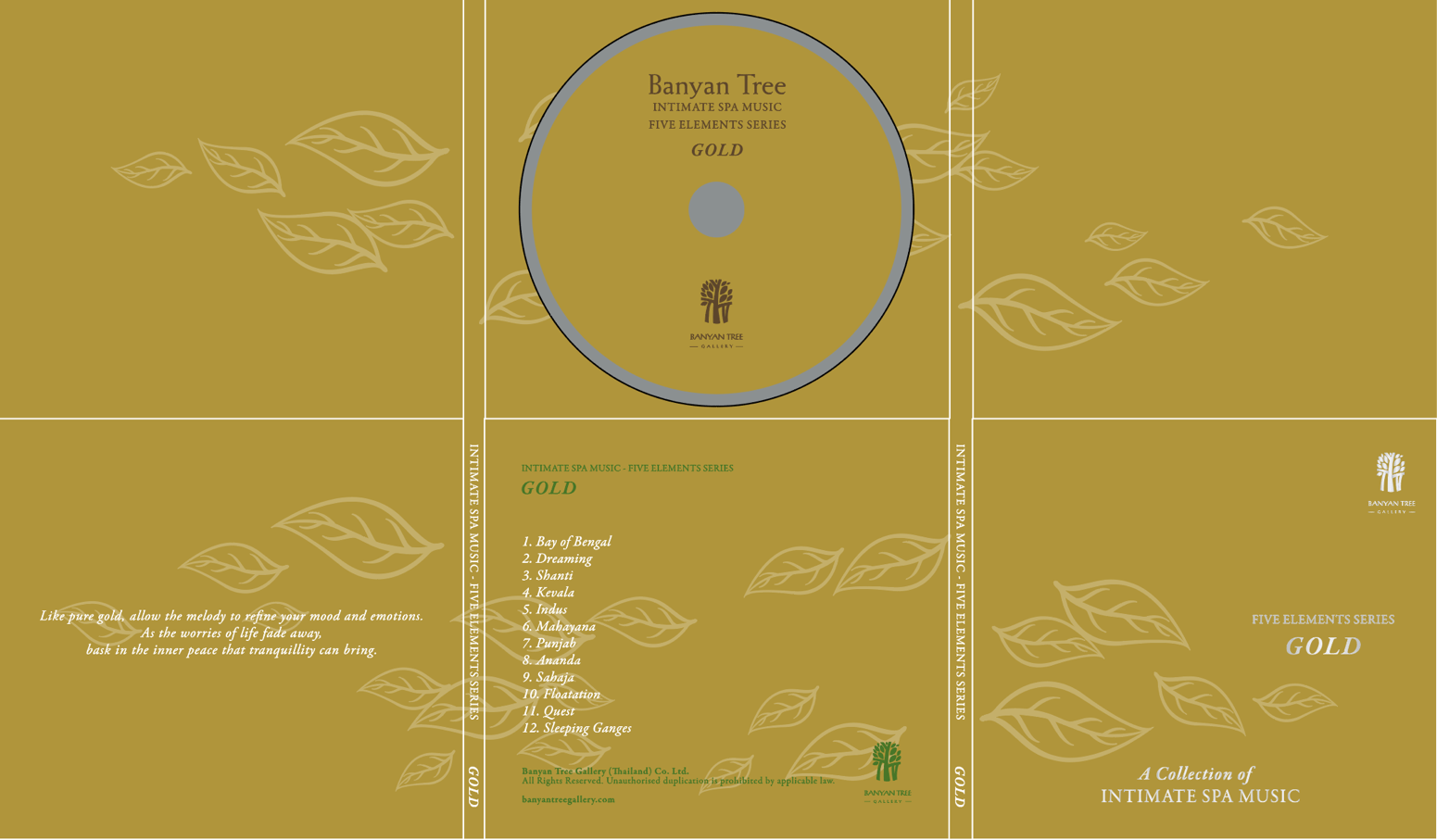 Banyan Tree Resort & Spa / 5 Elements Series CD Vol.3 ' Gold ' ( Indian Themed )